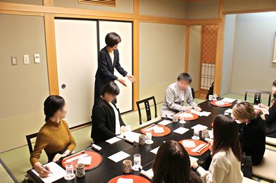 和食のマナー講座の様子です。